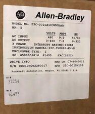 NEW Allen Bradley 23C-D010A103NNBANN, PowerFlex 400, 5 HP, 480V Fan & Pump Drive