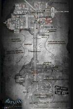 BATMAN ARKHAM ORIGINS ~ AMBUSH MAP 24x36 Video Game Poster Gotham Bat Sightings