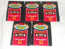 1992 TOPPS STADIUM CLUB SERIES 2  BASEBALL CARDS 5 WAX PACKS FREE SHIPPING