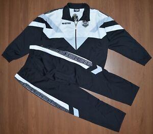 Errea FC Lugano Vintage Mens Track Suit Top Jacket Pants sz L