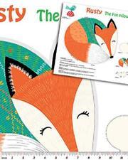 rusty the fox kissen 100% baumwolle druck stoff panel für kissen