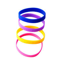 Custom Personalized Rubber Silicone Wristbands12mm ANY NAME  Bracelets Engraved