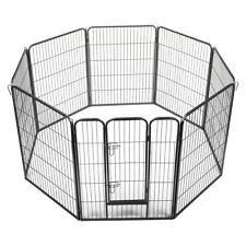 "New listing 39"" Pet Fence Dog Playpen Exercise Cage Kennel w/ Door 8 Panel Outdoor Indoor"