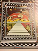 Rare Peter Max Vintage Galaxy 1970 Pop Op Psychedelic Cool Wall Art Poster Print