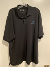 Under Armour Relevant Mens 2Xl Loose Fit Heatgear Polo Solid Black Shirt