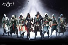 """Assassin's Creed Protagonist Characters  36"""" x 24"""" Poster Features Altaïr & Ezio"""