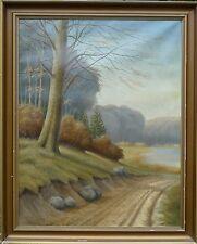 Desconocido Impresionista -sonniger Herbstweg -ölgemälde 77x94, 5cm