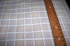 "7.75 yard Bolt 54"" wide Tan-Beige-White Small Woven Square Plaid Cotton Fabric"