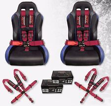 STV Motorsports Racing Seat Belt Harness Pink 5 Point 3 Inch Off-Road - Set of 2