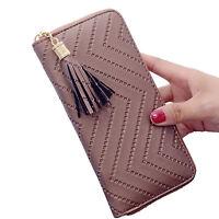 Women Wallet Leather Dollar Price Tassel Purse Card Holder Carteira Feminina Bag