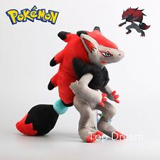 "New Pokemon Zoroark Plush Toy Soft Stuffed Animal Doll 14"" 35cm Teddy Kids Gift"