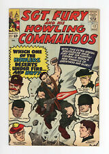 SGT. FURY And His HOWLING COMMANDOS #12 - CLASSIC JACK KIRBY COVER 1964