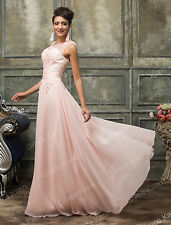 7f82167fad1 Grace Karin Long Wedding Ball Evening Formal Party Prom Bridesmaid Maxi  Dresses Light Pink 12 UK