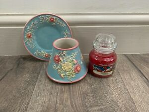 Yankee Candle small 3D flower Saucer & Shade with Christmas Eve 104g small jar
