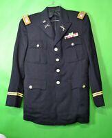 Vintage Army Infantry Officer Lt. Colonel Dress Blue Jacket - Korean War 1950's