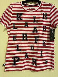 karl lagerfeld t shirt women szM