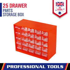 25-Drawer Parts Storage Tool Organizer Cabinet Box Chest Plastic With Dividers