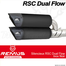 Paire silencieux Remus RSC Dual Flow Noir sans cat Vespa GTS 300 ie Super 08+