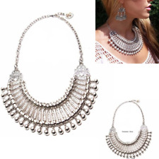 Collar Coin Necklace Tribal Pendant Vintage Crystal Maxi Choker Women Jewelry