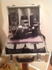 Vintage Canon AE-1  35 MM Camera W/  5 Lenses Flash Metal Case