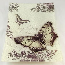 Decorative Black Butterfly Glass Plate
