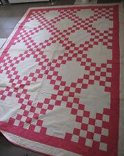 Quilt Blanket hand made appliqué Geometric museum quality maker tag Dora Baker