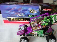 2003 STEVE KINSER HULK QUAKER STATE WORLD OF OUTLAWS 1:24 SPRINT RACE CAR ACTION