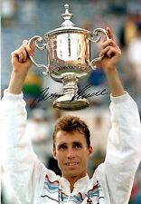 Hand Signed 8x12 photo IVAN LENDL US OPEN TENNIS CHAMPION Andy Murray + my COA