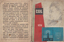 TESSERA CGIL SINDACATO PORTUALE 1959 SEZIONE DI SAVONA  1-243