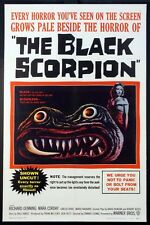 THE BLACK SCORPION GIANT INSECT HORROR / SCI-FI 1957 1-SHEET ON LINEN