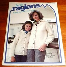 BUCILLA RAGLANS to knit from the neck down vol 11 Vintage 1977 - 10 Patterns