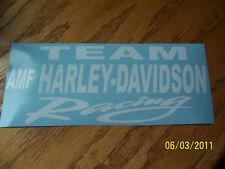 "4""X 9""  TEAM AMF HARLEY-DAVIDSON Racing (New STICKER)"