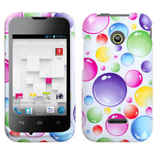 For Huawei Prism II U8686 HARD Protector Case Snap Phone Cover Rainbow Bubbles