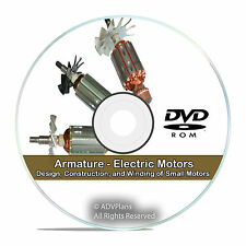 Armature Electric Motors Design Construction Winding Library Guide Books CD V75