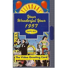 NEW>>>>Flikbaks - Your Wonderful Year 1957 - Video Greeting Card VHS