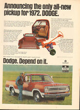 1971 Vintage ad for Dodge Trucks`retro Photo Interior View Red Cream    052417