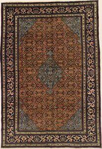 Semi Antique Geometric 7X11 Tribal Design Wool Oriental Rug Home Decor Carpet