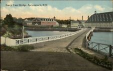 Portsmouth NH Navy Yard Bridge c1910 Postcard