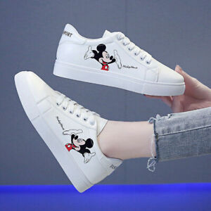 Disney Mickey Mouse Women Flat Sneakers Summer Slip-On Flat Sports Shoes FRESHIP