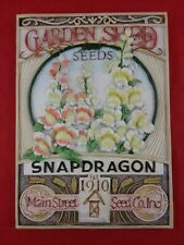 Resin 3D Garden Wall Plaque Sign, Stone Look, Sweet Main St.Seed Co, Snapdragon