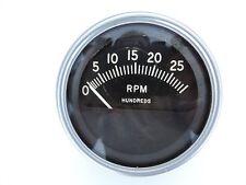 VINTAGE AC 3,000 RPM TACHOMETER 3-3/8 DIAMETER - TRUCK / BOAT / RAT ROD