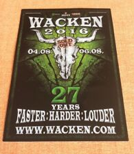 W:O:A 2016 WACKEN OPEN AIR Postkarte