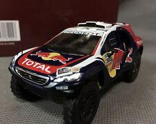 Dakar Peugeot 2008 DKR 2015 1/43 Scale Diecast Car Red Bull #302 Racing Rally