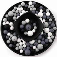 baby tete Silicone Teething Beads Round Chewable 12-20mm 200pcs DIY Necklace B
