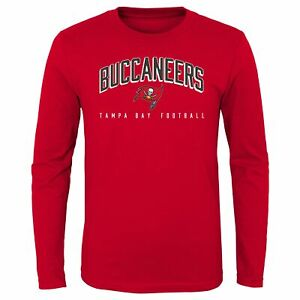 Outerstuff NFL Youth (8-20) Tampa Bay Buccaneers Arched Standard Long Sleeve Tee