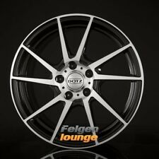 4 Alufelgen DOTZ KENDO Black Polished Front 7x17 ET38 5x112 ML70,1 NEU