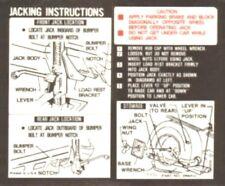 CHEVROLET 1971 El Camino & GM Sprint Car Jacking Instructions Decal #3996914