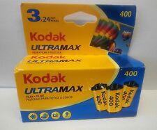 Kodak UltraMax ISO 400 Color Print 35mm Film  3 Rolls - 1/17