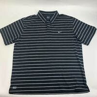 Nike Men's Polo Shirt Size XL Black Striped Golf Casual Short Sleeve Knit