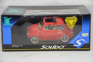 a164 1960 FIAT 500 OPEN RED 1:18 1:16 SOLIDO PRESTIGE 8043 VERY RARE